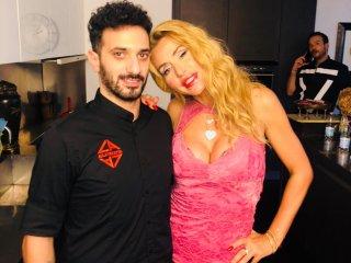 Make up artist con Valeria Marini