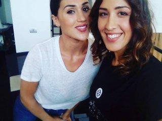 Cecilia Rodriguez con Make up artist